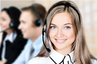 Call center agent in contact center.