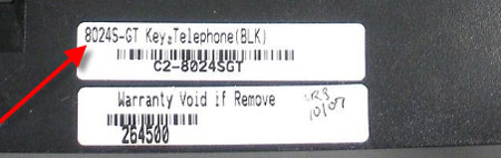 Label for a Comdial phone.