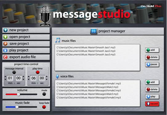 Message Suite software for thr OHP8000 music on hold device.