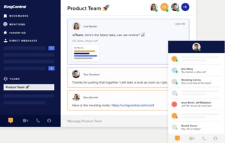 RingCentral collaboration tools with team messaging.